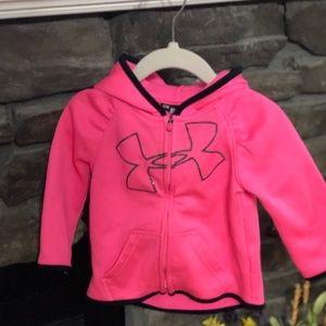 Pink under armor jacket